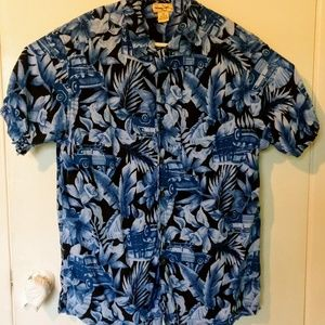 PANAMA JACK Size L Aloha Hawaiian Print Surfboard